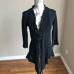 Line For Aritzia open front knit ruffle sweater XS